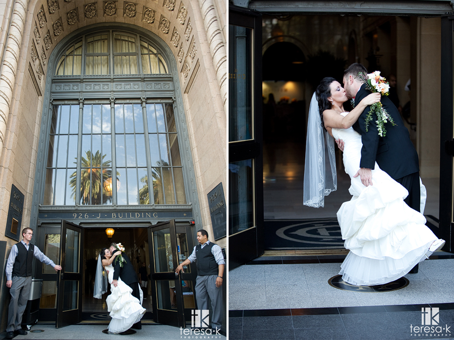Wedding images in front of the Citizen hotel by Teresa K photography