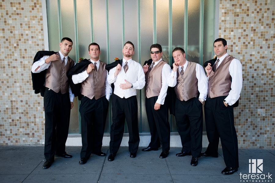 Group wedding formals in downtown Sacramento