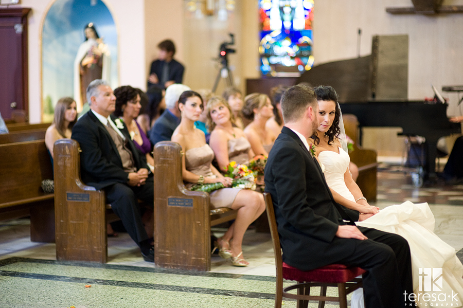 Indoor Wedding at Saint Mary's church by Sacramento Wedding photographer Teresa K