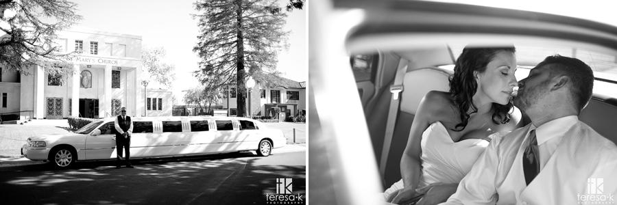 Fall wedding at St. Mary's church by Sacramento Wedding photographer Teresa K