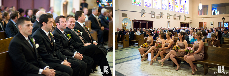 Indoor wedding church ceremony in Sacramento, California