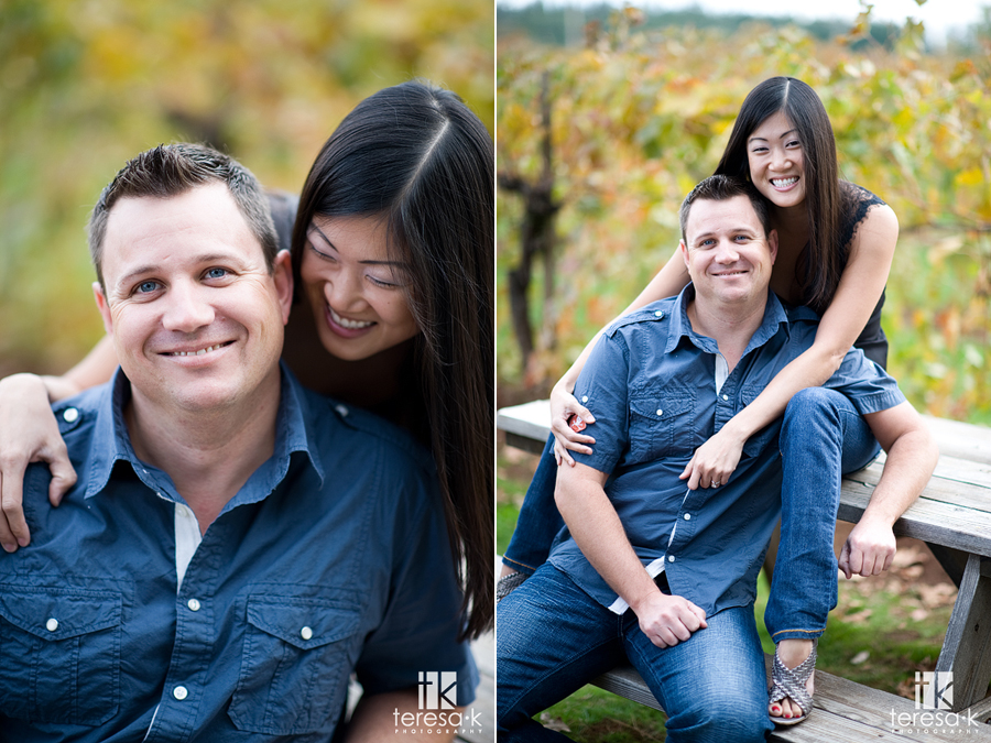 Apple Hill engagement pictures at Madrona vineyards in Northern California
