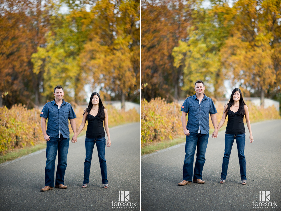 High Hill engagement pictures at Apple Hill by Northern California wedding photographer, Teresa K