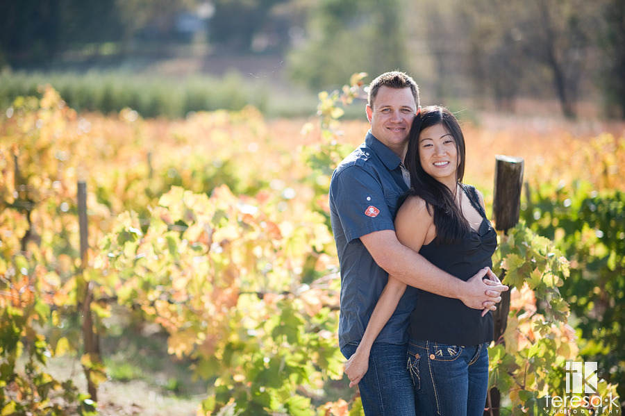 High Hill winery in Northern California images of engaged couple