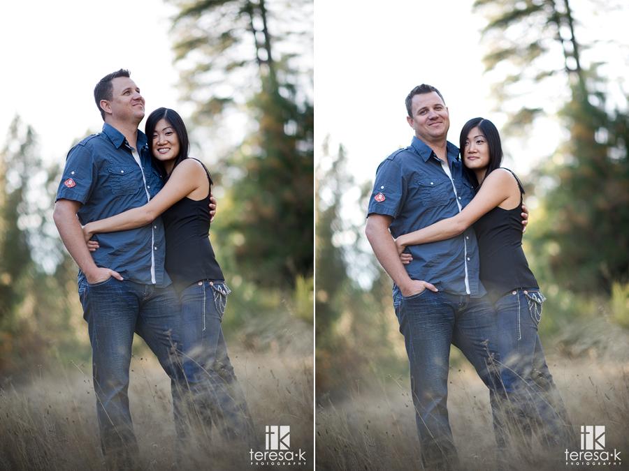 Apple Mountain golf resort engagement session by Placerville wedding photographer Teresa K