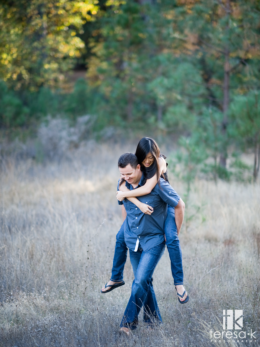 Apple Mountain golf resort engagement session by Placerville wedding photographer Teresa K in Apple Hill California