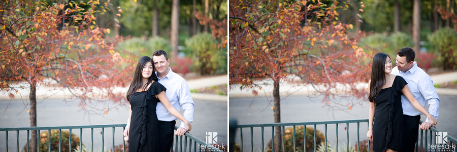 Fall engagement session at apple hill golf course in Placerville California