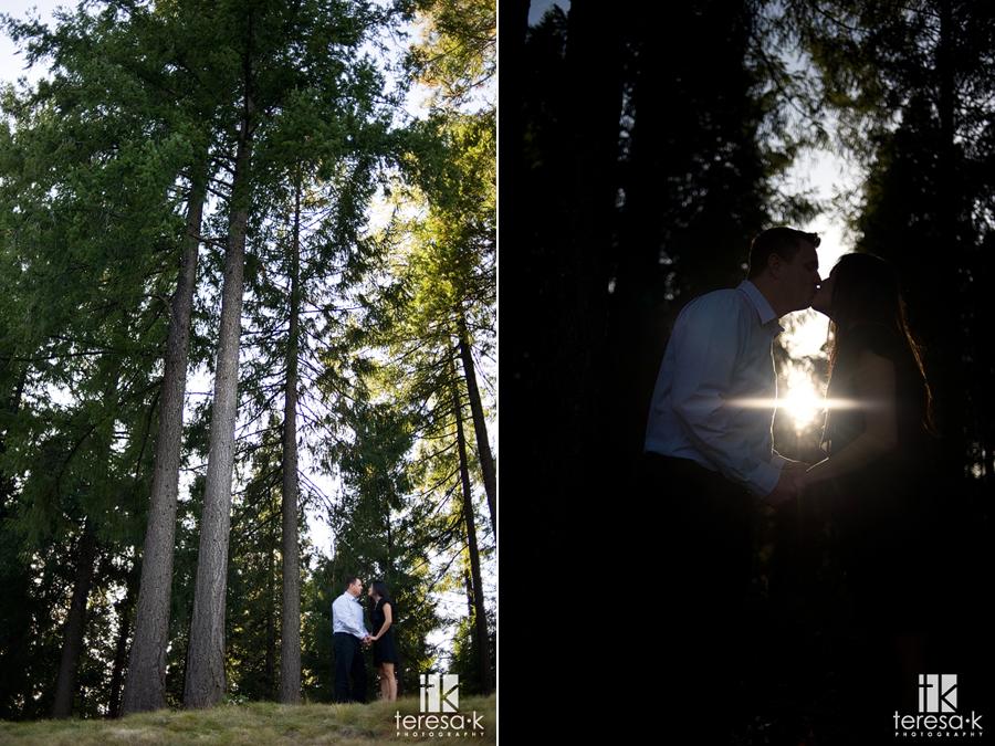 golf course engagement images, Placerville engagement photographer