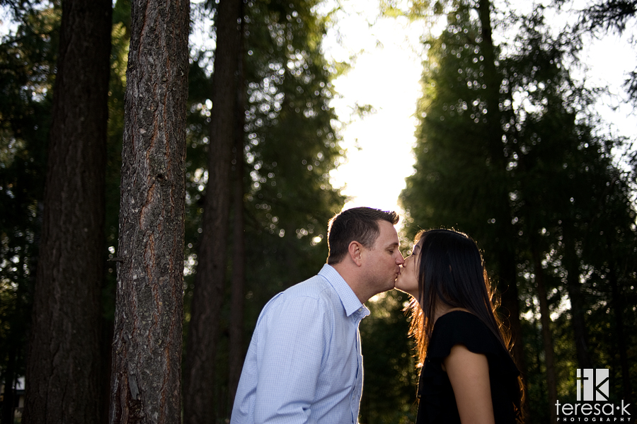 engagement images at the Apple Mountain golf resort in Placerville, California