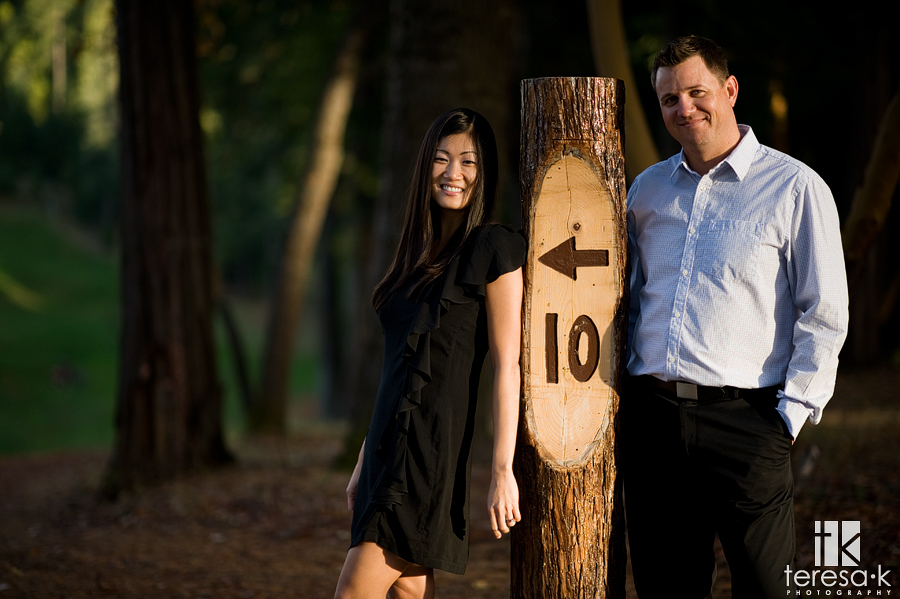 Apple Mountain golf course engagement images by Placerville wedding photographer Teresa K