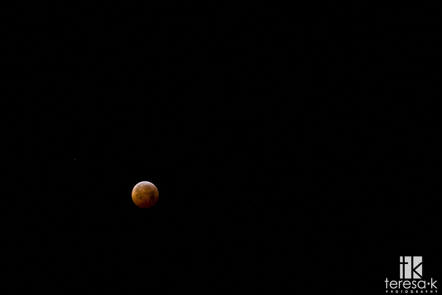 2010 winter solstice lunar eclipse from northern California in the united states of America