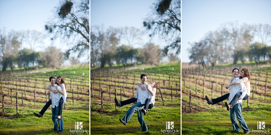gold country winery engagement session in Amador
