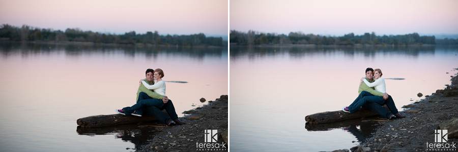 engagement session at the Folsom Aquatic Center by Folsom wedding photographer, Teresa K photography