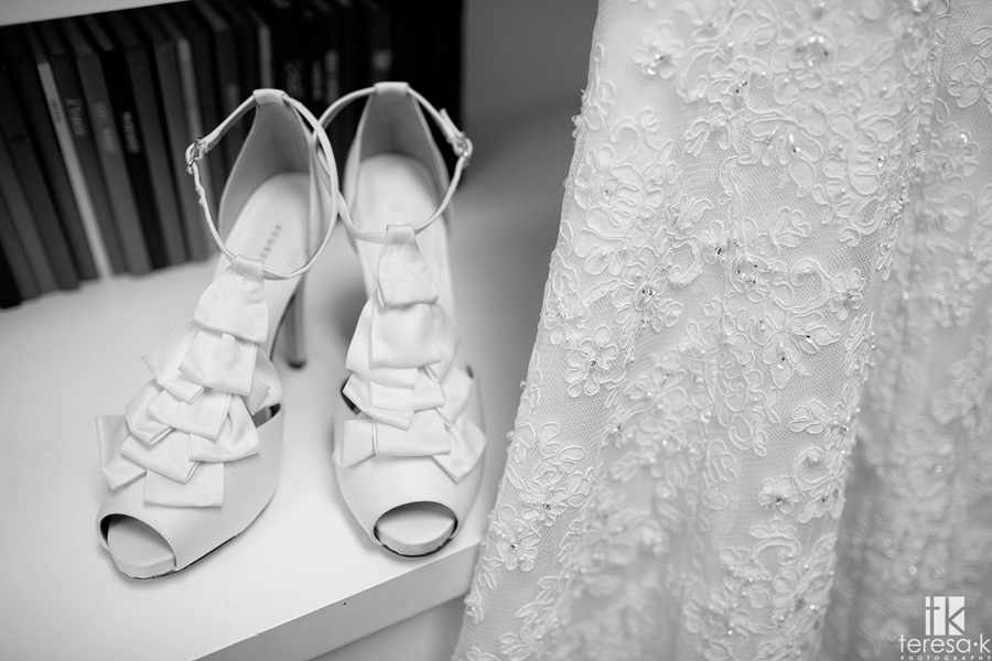 wedding shoes from wedding at Jehovah's witness hall in Lincoln, Ca