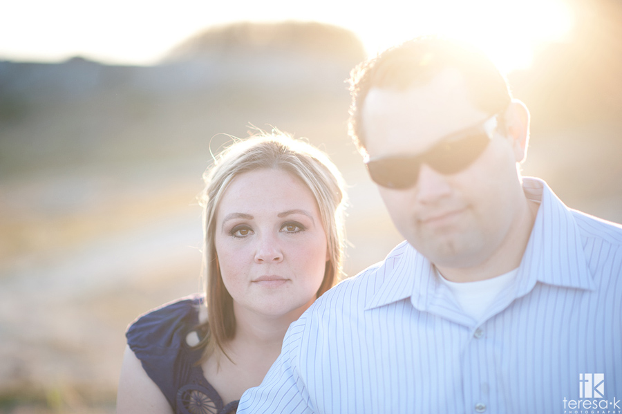 modern engagement photograph taken in Folsom, California