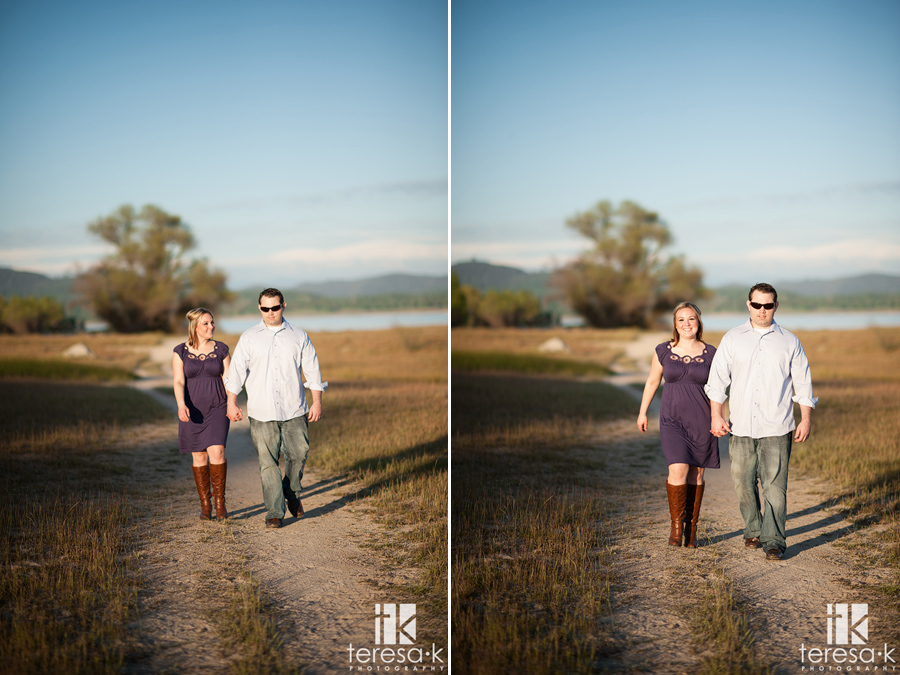 casual engagement photos taken in Folsom California