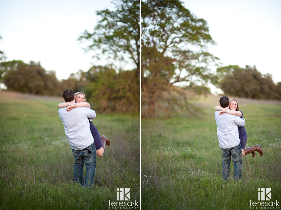 gorgeous light for engagement session