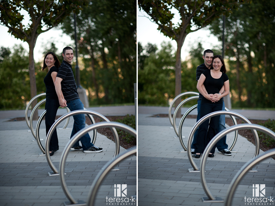 creative engagement picture at the riverwalk in Sacramento