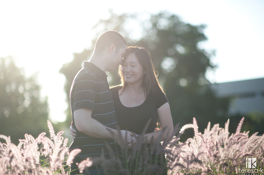 late afternoon engagement session in natural light