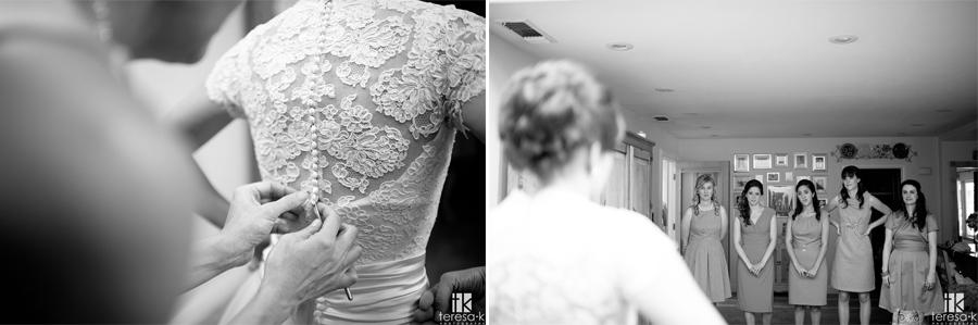 bride getting ready for catholic wedding in Sacramento