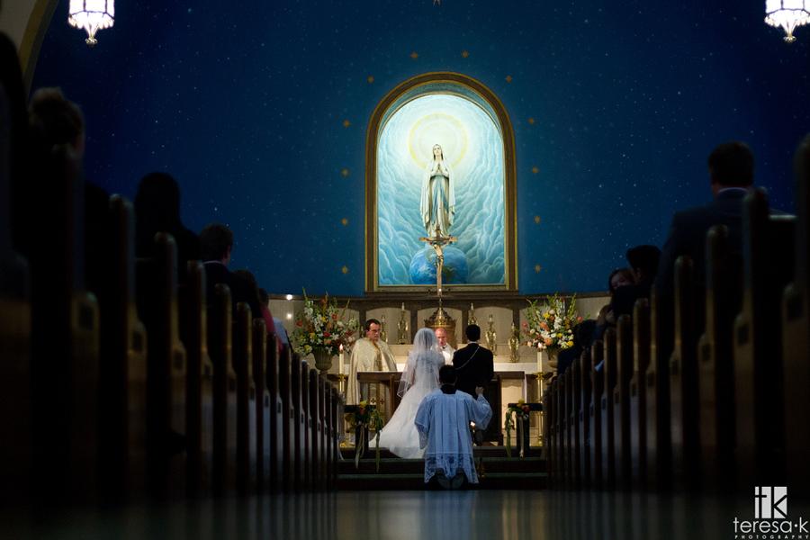 best catholic wedding image in Sacramento