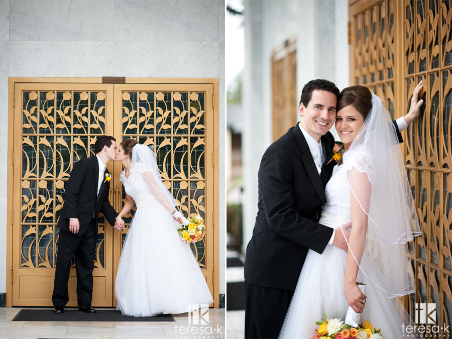 bride and groom portraits at st. Mary's