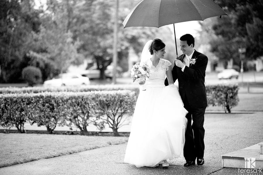 rain on my wedding day in Sacramento
