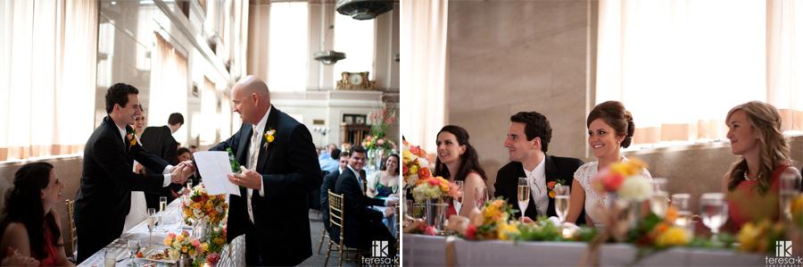 reception at the Sacramento grand ballroom