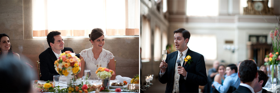 Sacramento grand ballroom, converted bank wedding