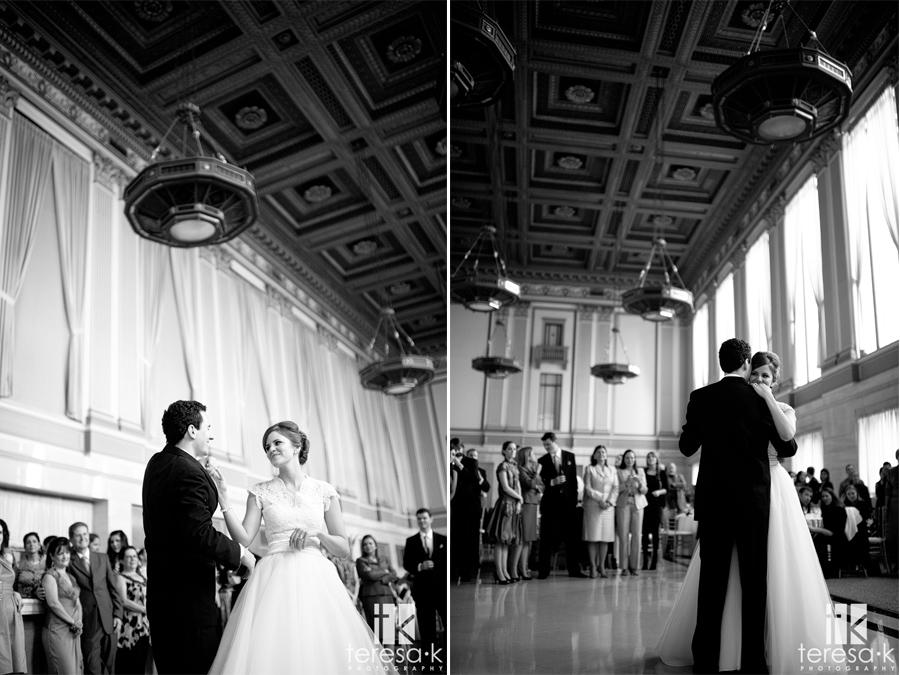 Sacramento grand ballroom wedding reception