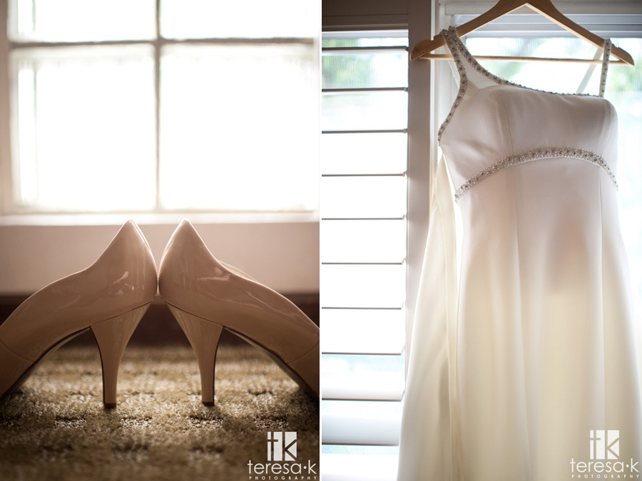 General's Garden Wedding at McClellan AFB, getting ready images, bride's shoes