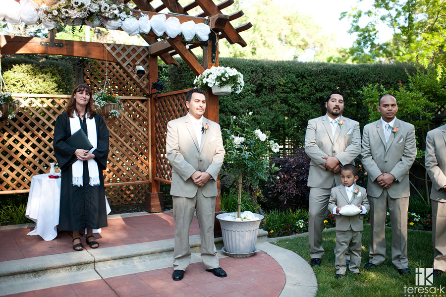 outside ceremony at the lions gate hotel