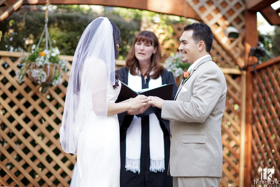 image of the wedding ceremony at McClellan AFB