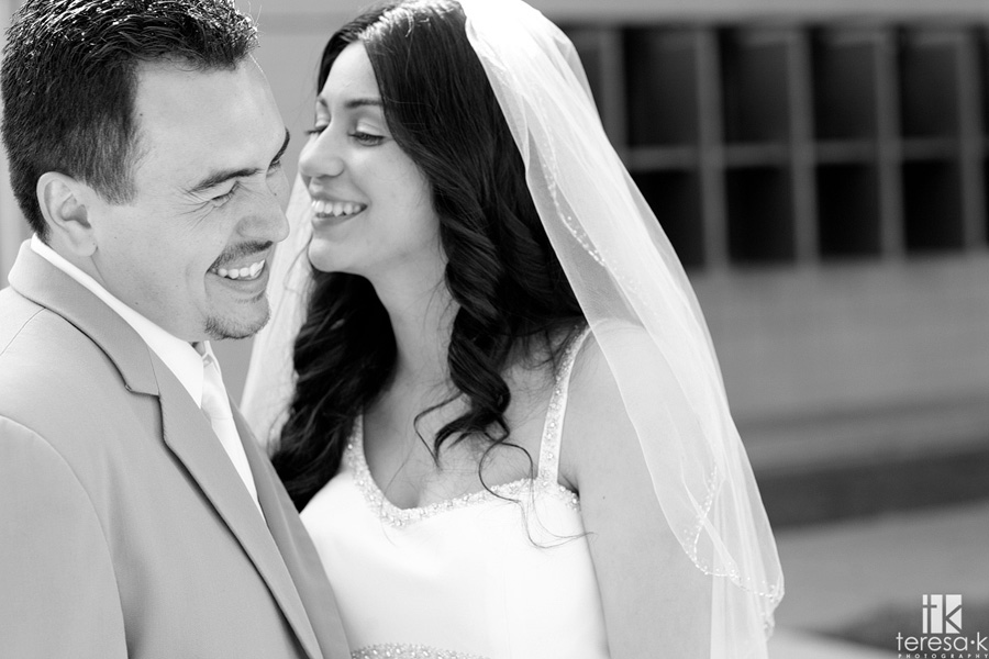 Bride and Groom portrait session at the generals house in McClellan afb