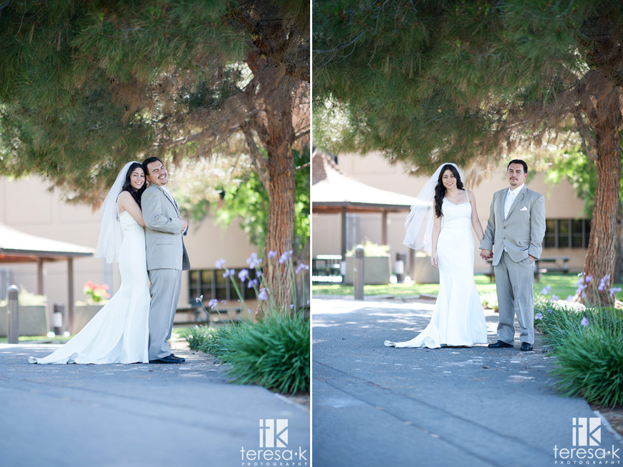 bride and groom portraits at Lions Gate Hotel and Conference Center