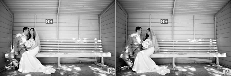 bride and groom portraits at a Lions Gate Hotel and Conference Center Wedding