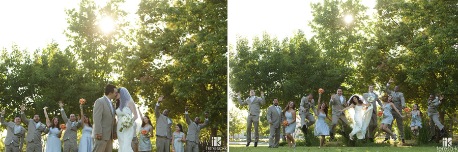wedding party portraits at a Lions Gate Hotel and Conference Center Wedding