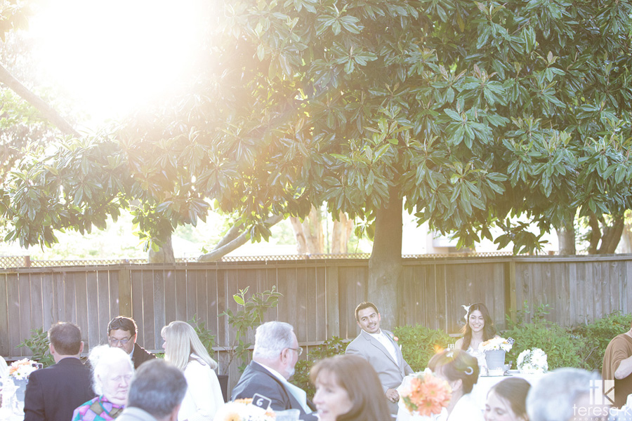 outdoor reception at Lions Gate Hotel and Conference Center Wedding