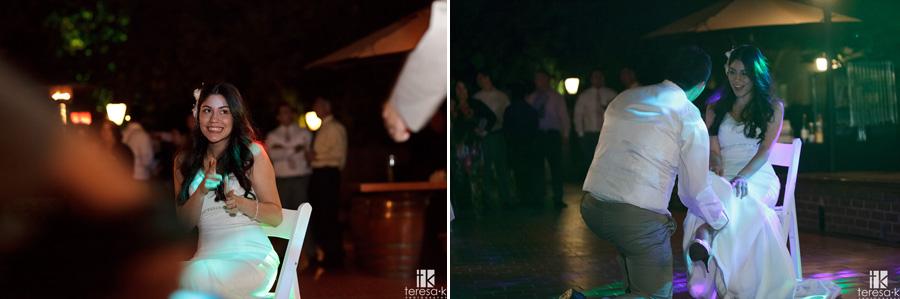 after dark photos of McClellan afb wedding