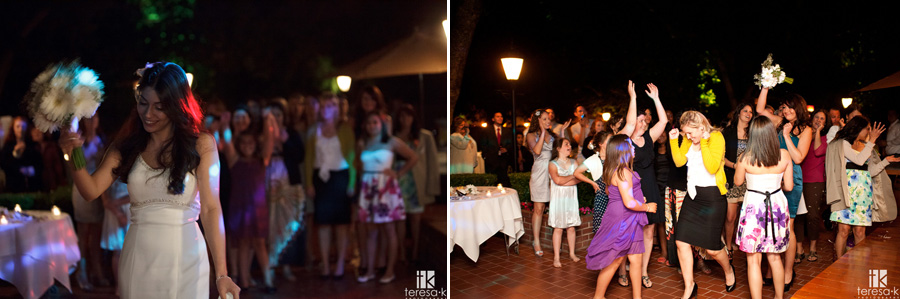 nighttime reception in the spring at Lions Gate Hotel and Conference Center Wedding