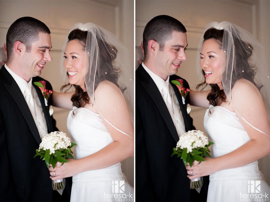 winking bride in Sacramento