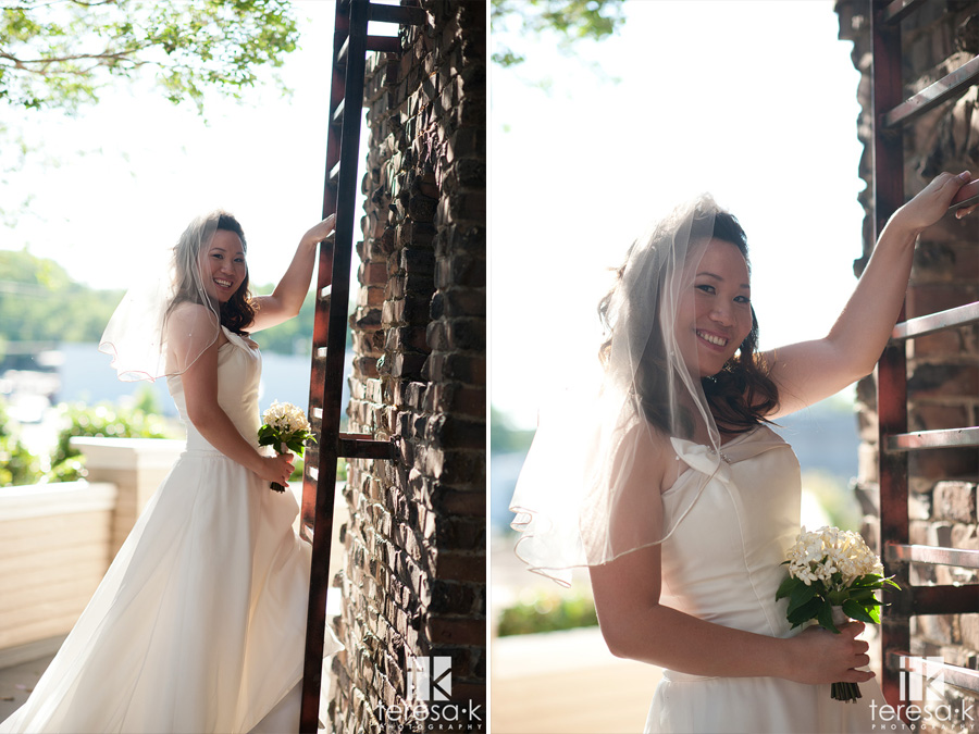 downtown Sacramento wedding in July at the mansion