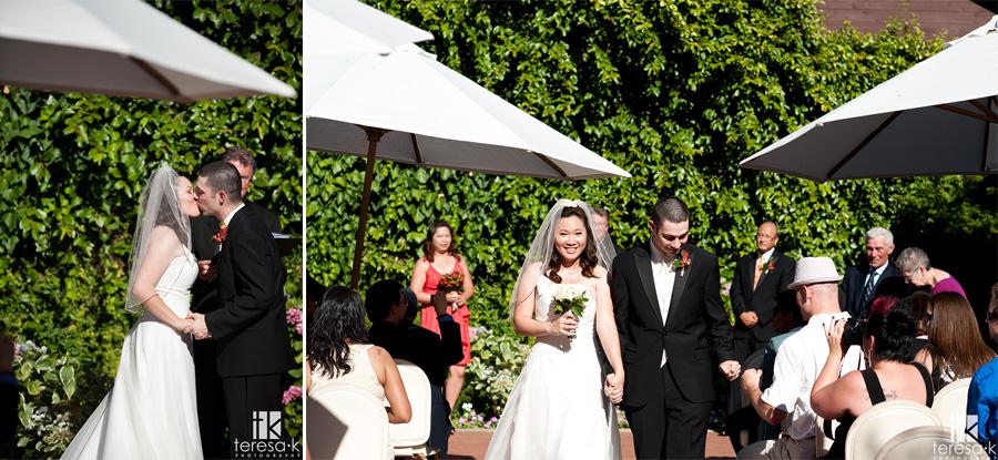 recessional by Sacramento wedding photographer, Teresa K
