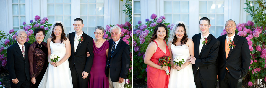 formal portraits in Sacramento at Vizcaya wedding