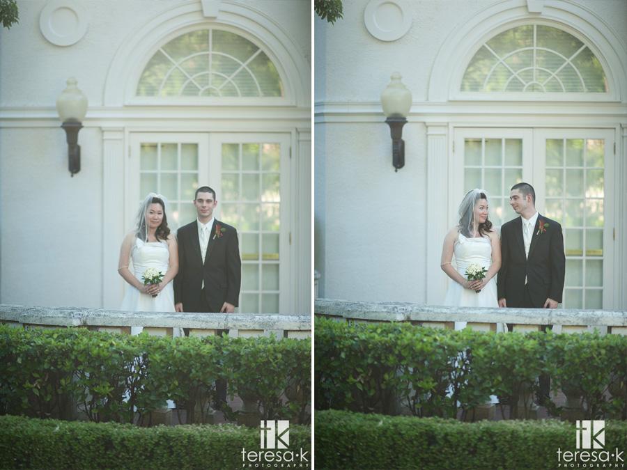 bride and groom portraits at the Vizcaya