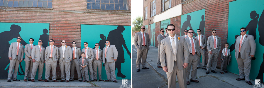 grooms portraits in downtown sac