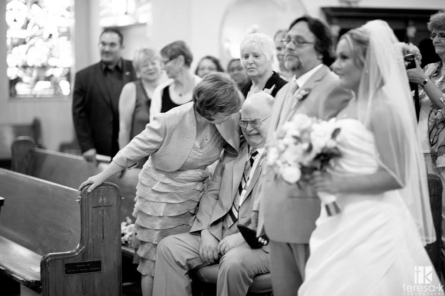 Dad crying at Sacramento wedding