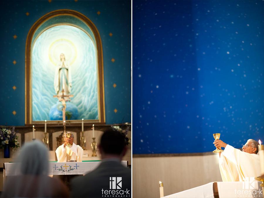 traditional catholic wedding mass in Sacramento