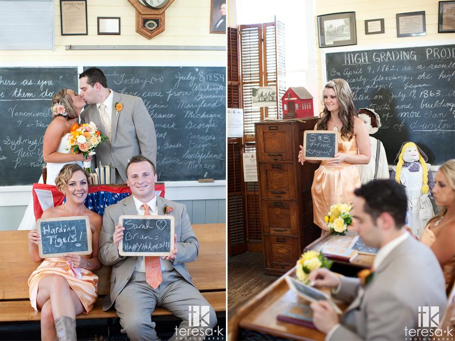 Sacramento schoolhouse wedding