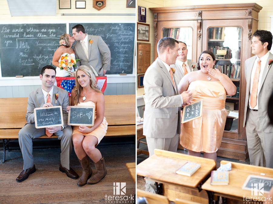 schoolhouse themed weddings in Sacramento
